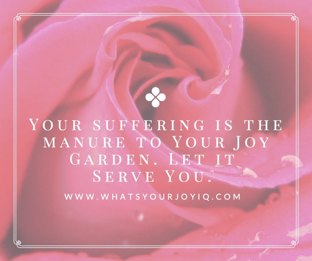 Joy quote-Suffering and manure