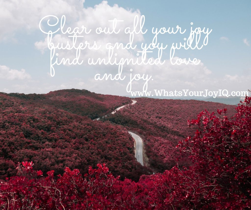 Joy Quote-clearing out your joy busters for unlimited love