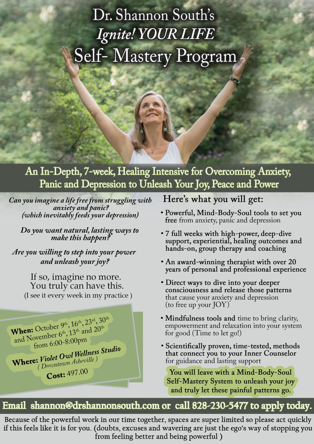 Ignite Your LIfe Self Mastery Program Flyer 2 edtion (1) (1)